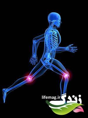 laufendes skelett mit schmerzen in den knien