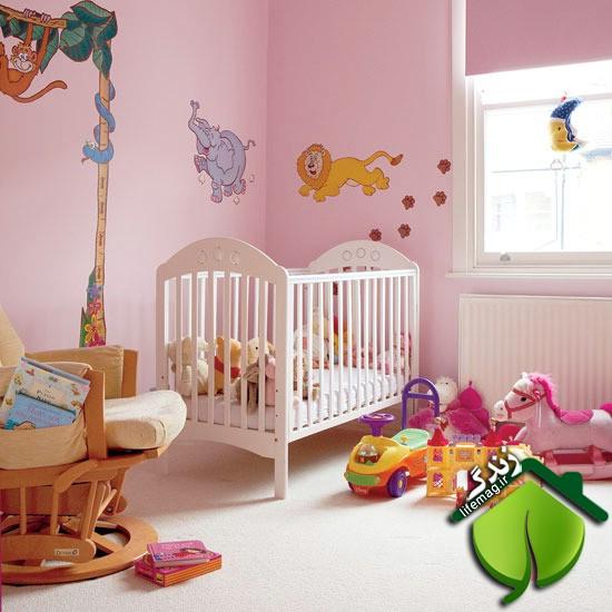 مدل هایی از دکوراسیون اتاق خواب نوزاد- دخترانه