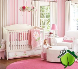 Nice-pink-bedding-for-pretty-girls-nursery-from-prottery-barn-1-524x462