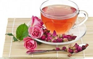 مصرف غنچه گل محمدی درچای