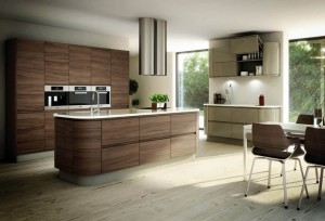 Fashionable-Old-Style-Cream-Dark-Brown-Veneer-Contemporary-Kitchen-Architecture-Wan