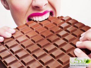 کاهش چین و چروک پوست صورت با شکلات !
