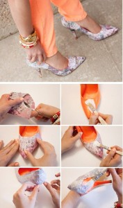 Old-clothes-and-grab-the-fabric-glue-DIY-Heels-Ideas